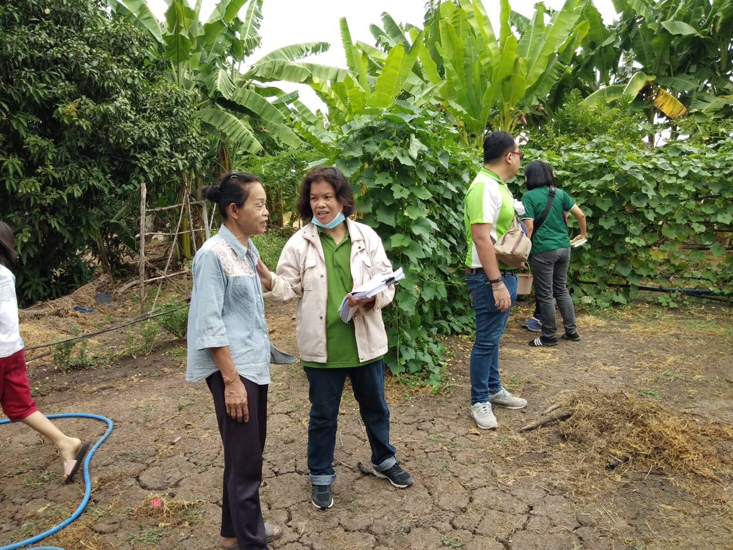 เข้าตรวจรับรองแหล่งผลิตพืชอินทรีย์ ให้กับเกษตรกรในพื้นที่